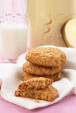 Sesame and honey cookies stock images