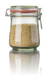 Sesame in a jar Royalty Free Stock Photo