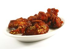 Sesame Kung Pow Chicken. Popular Chinese Dish stock image