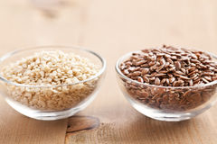 Sesame and linseed Stock Photography