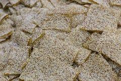Sesame maltose. In the market Royalty Free Stock Photos