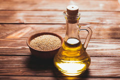 The sesame oil Royalty Free Stock Images