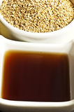 Sesame oil and sesame Stock Photography