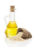 Sesame oil and sesame Stock Photos