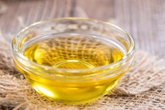 Sesame Oil in a small bowl Royalty Free Stock Image