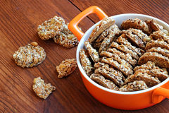 Sesame and peanuts healthy cookies Stock Photo