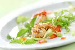 Sesame prawn salad Stock Images