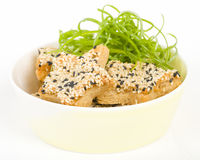 Sesame Prawn Toast Royalty Free Stock Photos
