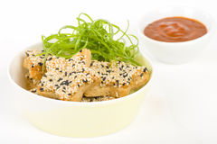 Sesame Prawn Toast Royalty Free Stock Image