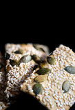Sesame And Pumpkin Seed Flatbreads Royalty Free Stock Photo