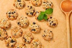 Sesame raisin cookies Royalty Free Stock Image