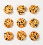 Sesame raisin cookies Royalty Free Stock Images