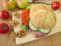 Sesame roll for taking along Royalty Free Stock Images