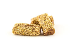 Sesame roll on white background. Stock Image