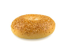 Sesame Seed Bagel Isolated on White Background Royalty Free Stock Photos