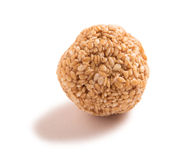 Sesame seed ball isolated on white background. Royalty Free Stock Images