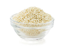 Sesame seed in bowl Royalty Free Stock Images