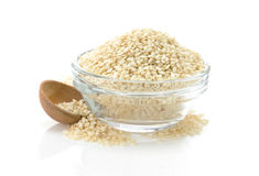 Sesame seed in bowl Royalty Free Stock Image
