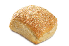 Sesame seed bread bap Royalty Free Stock Photo