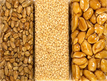 Sesame Seed Brittle background Stock Photos