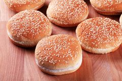 Sesame seed buns Royalty Free Stock Image