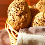 Sesame seed buns Stock Photo