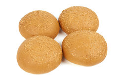 Sesame seed buns Royalty Free Stock Images