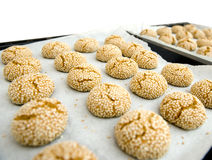 Sesame seed cookies Stock Images