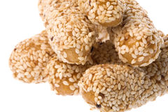Sesame seed crackers Royalty Free Stock Photos