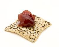 Sesame Seed Gourmet Cracker Royalty Free Stock Image