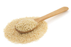 Sesame Seed In Spoon On White Royalty Free Stock Image