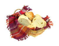 Sesame Seed Italian Bread in Basket Royalty Free Stock Image