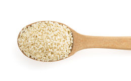 Sesame seed in spoon Stock Photos
