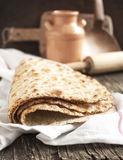 Sesame seeded flatbread Stock Photo