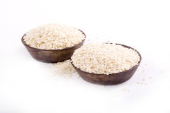 Sesame seeds. Against a bright white background royalty free stock photos