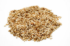 Sesame Seeds. On a white background Stock Image