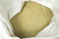 Sesame seeds. In a bag closeup royalty free stock photos