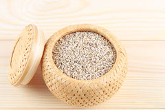 Sesame seeds in basket Royalty Free Stock Image