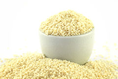 Sesame seeds in bowl Royalty Free Stock Photo