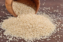 Sesame seeds in a bowl Stock Photo