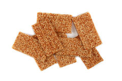 Sesame seeds cookies isolated Royalty Free Stock Photos