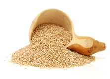 Sesame seeds. Isolated on white background royalty free stock images
