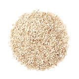 Sesame seeds  isolated on white by top view Stock Photography
