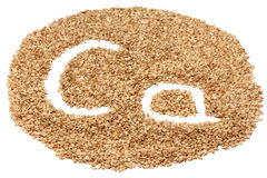 Sesame seeds with letters Royalty Free Stock Photo