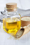 Sesame seeds and oil Royalty Free Stock Photos