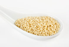 Sesame seeds in the spoon Stock Image