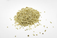 Sesame seeds on white background. Stock Images
