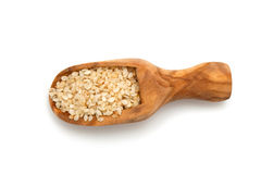 Sesame seeds in a wooden scoop Stock Images