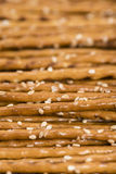 Sesame Sticks (macro shot) Royalty Free Stock Photo