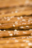 Sesame Sticks (macro shot) Stock Image